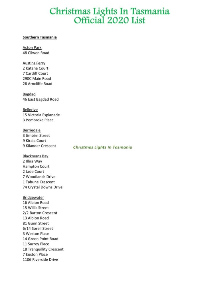 Your Guide To Christmas Lights: Tasmania's Festive Spirits High!